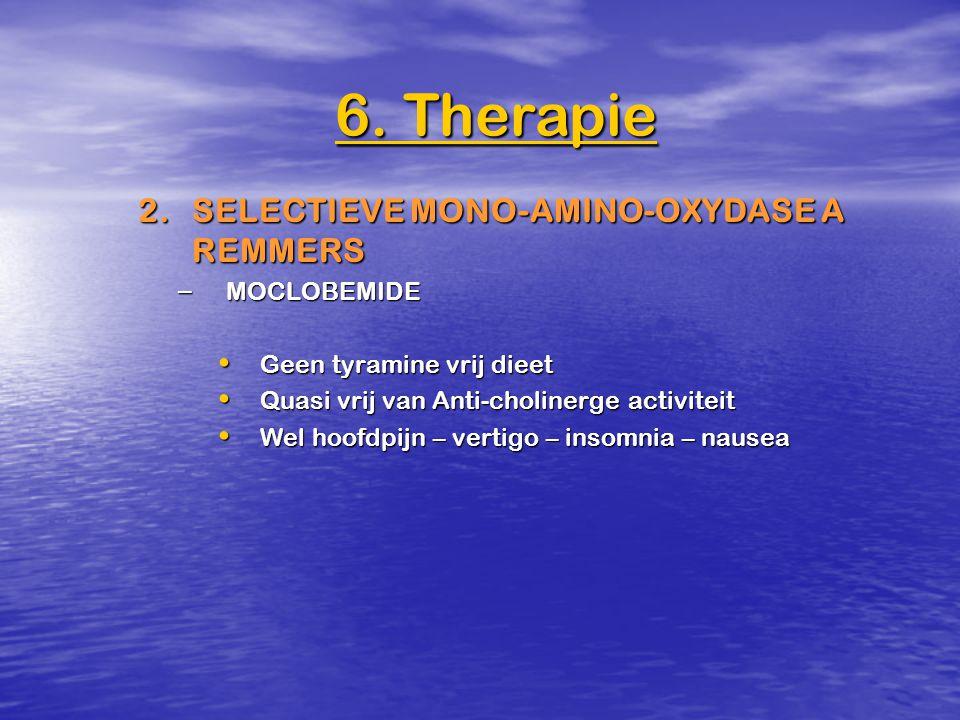 6. Therapie 2. SELECTIEVE MONO-AMINO-OXYDASE A REMMERS MOCLOBEMIDE