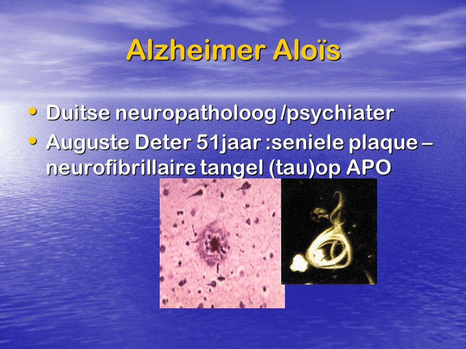 Alzheimer Aloïs Duitse neuropatholoog /psychiater