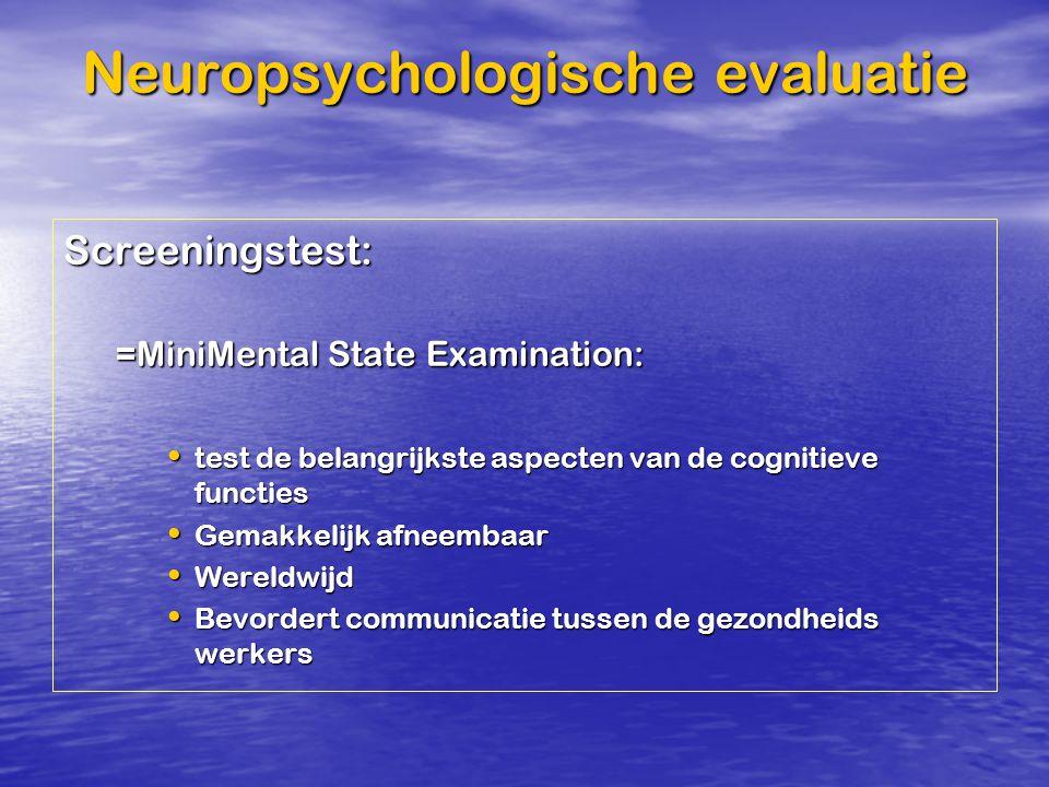 Neuropsychologische evaluatie