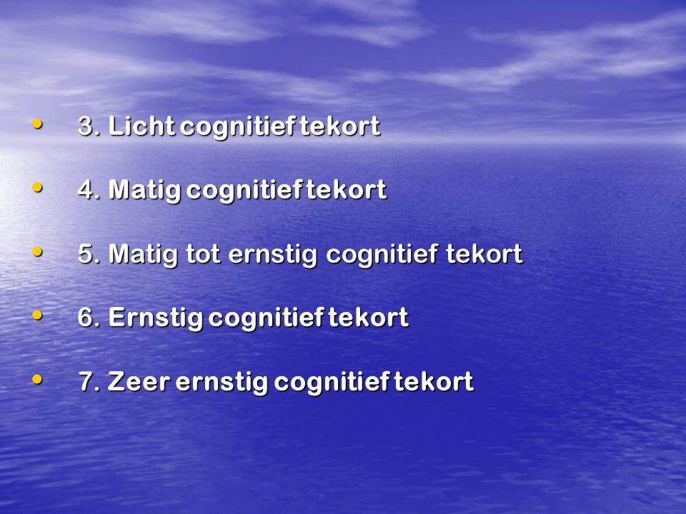 3. Licht cognitief tekort