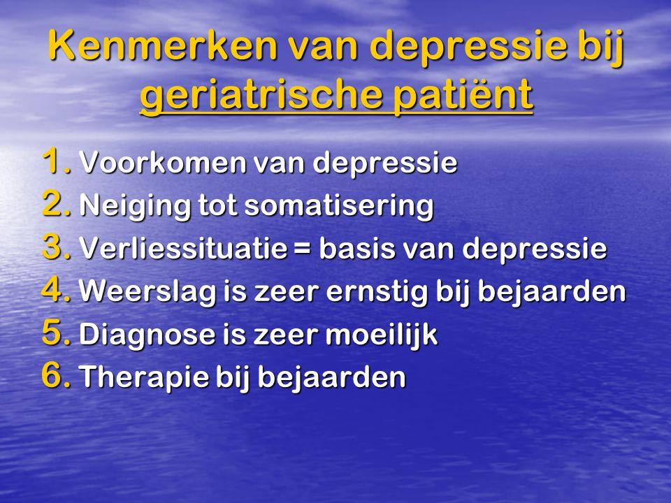 Kenmerken van depressie bij geriatrische patiënt