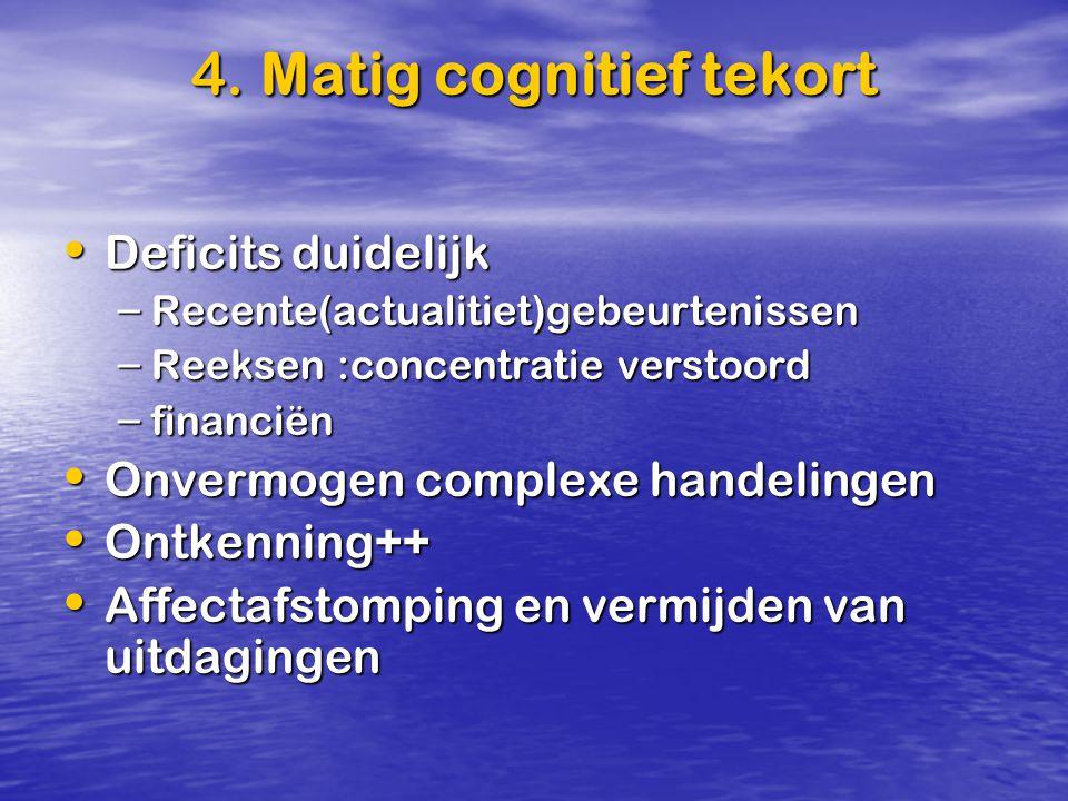 4. Matig cognitief tekort