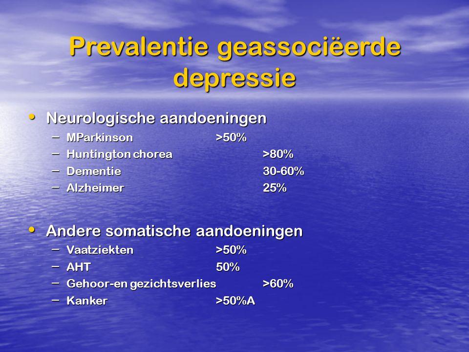 Prevalentie geassociëerde depressie