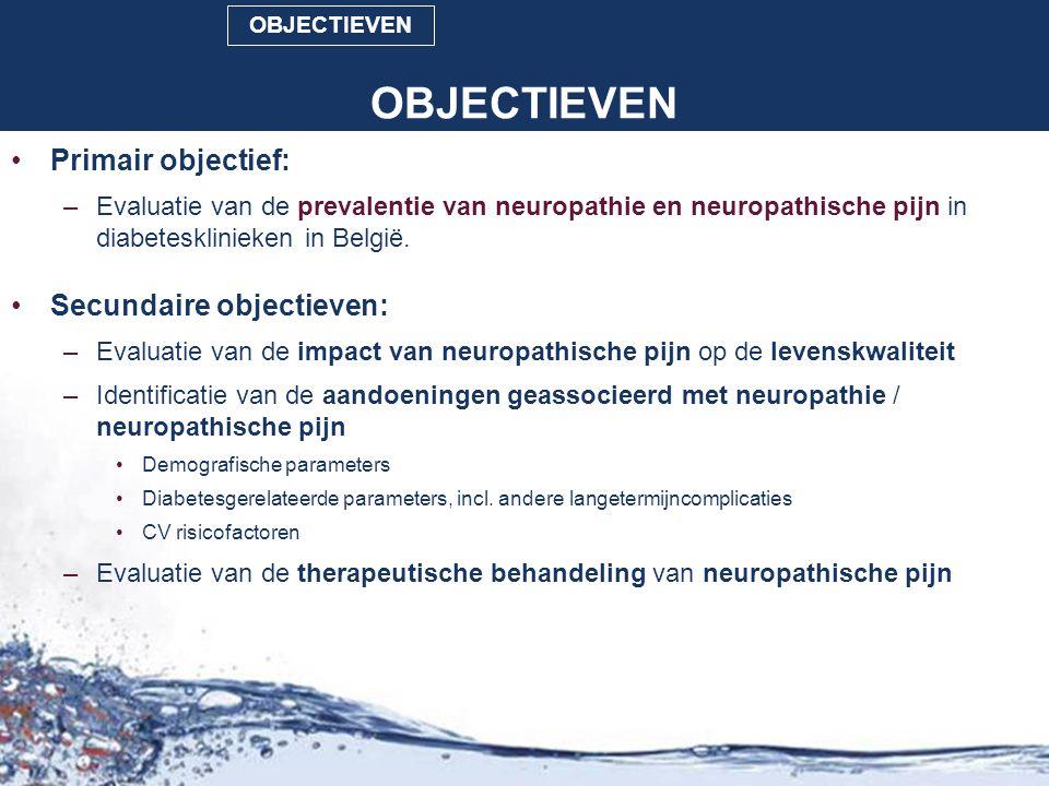 OBJECTIEVEN Primair objectief: Secundaire objectieven: