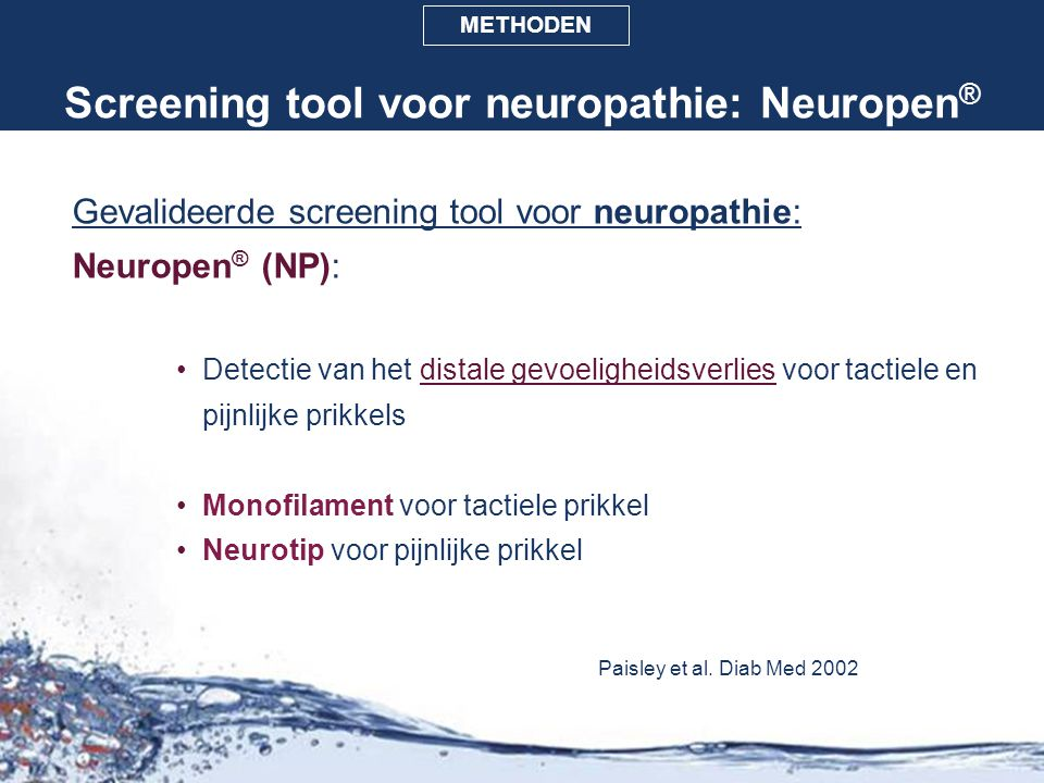 Screening tool voor neuropathie: Neuropen®