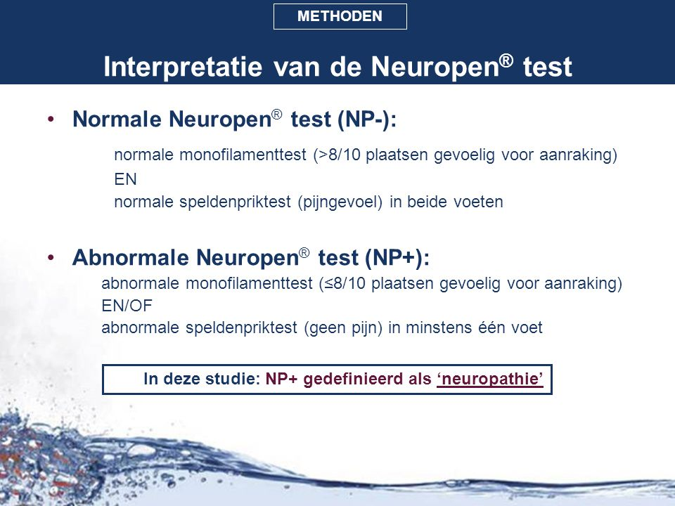 Interpretatie van de Neuropen® test