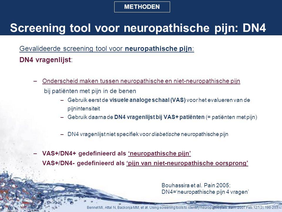 Screening tool voor neuropathische pijn: DN4