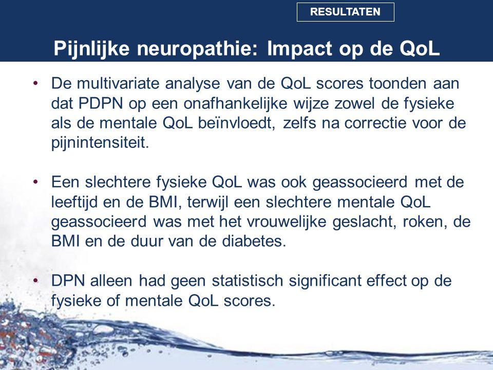Pijnlijke neuropathie: Impact op de QoL