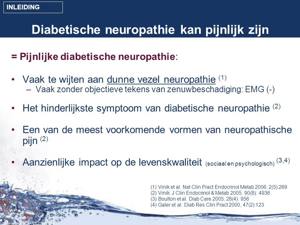 Diabetische neuropathie kan pijnlijk zijn
