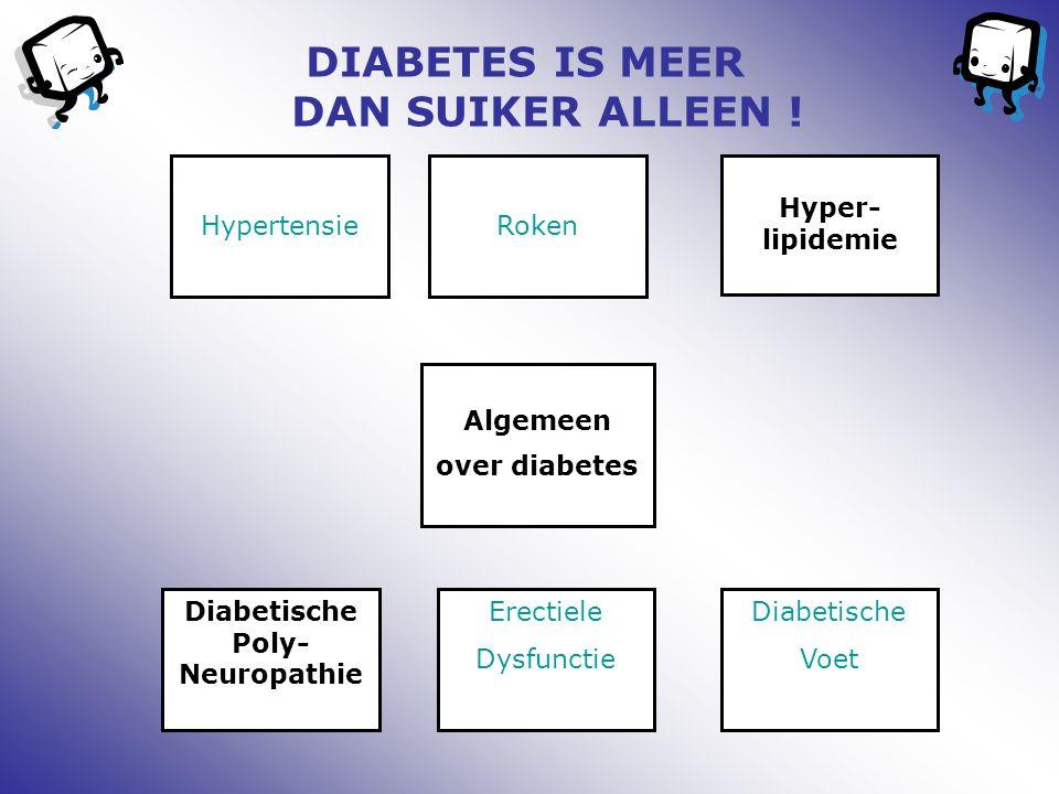 DIABETES IS MEER DAN SUIKER ALLEEN ! Diabetische Poly-Neuropathie