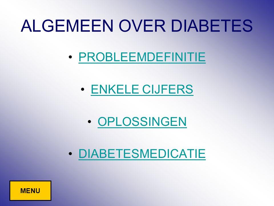 ALGEMEEN OVER DIABETES