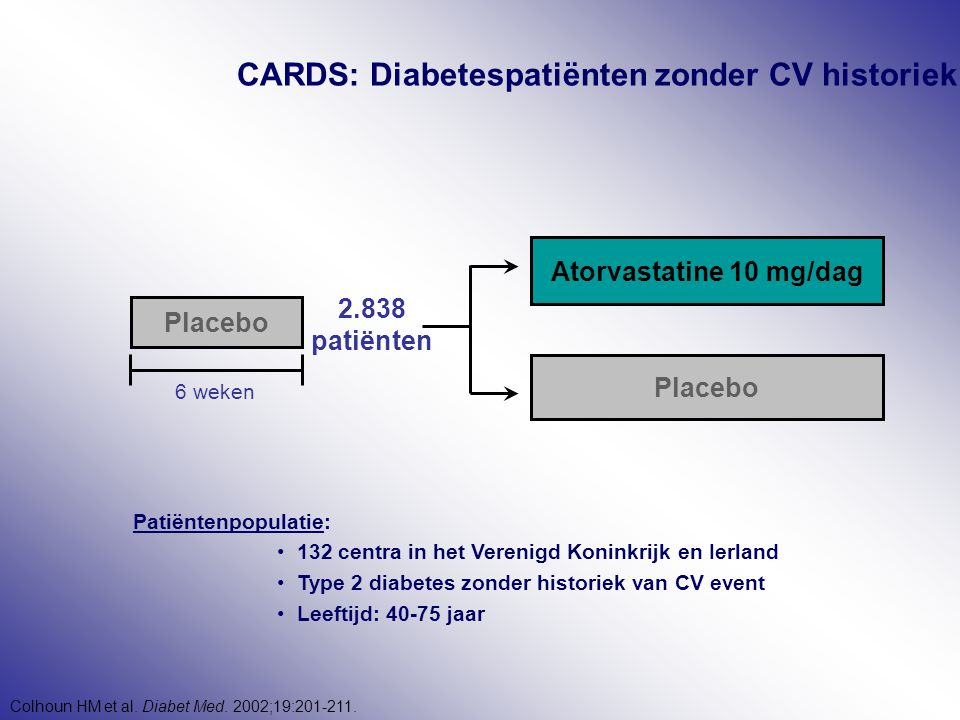 CARDS: Diabetespatiënten zonder CV historiek