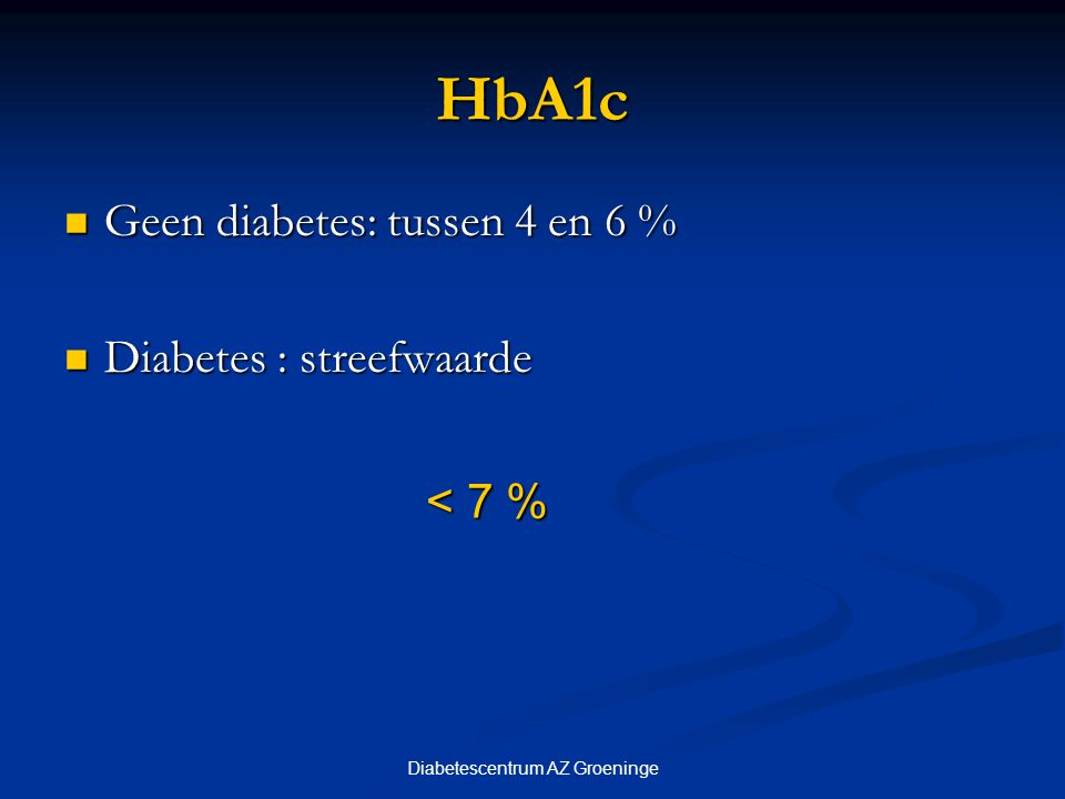 Diabetescentrum AZ Groeninge