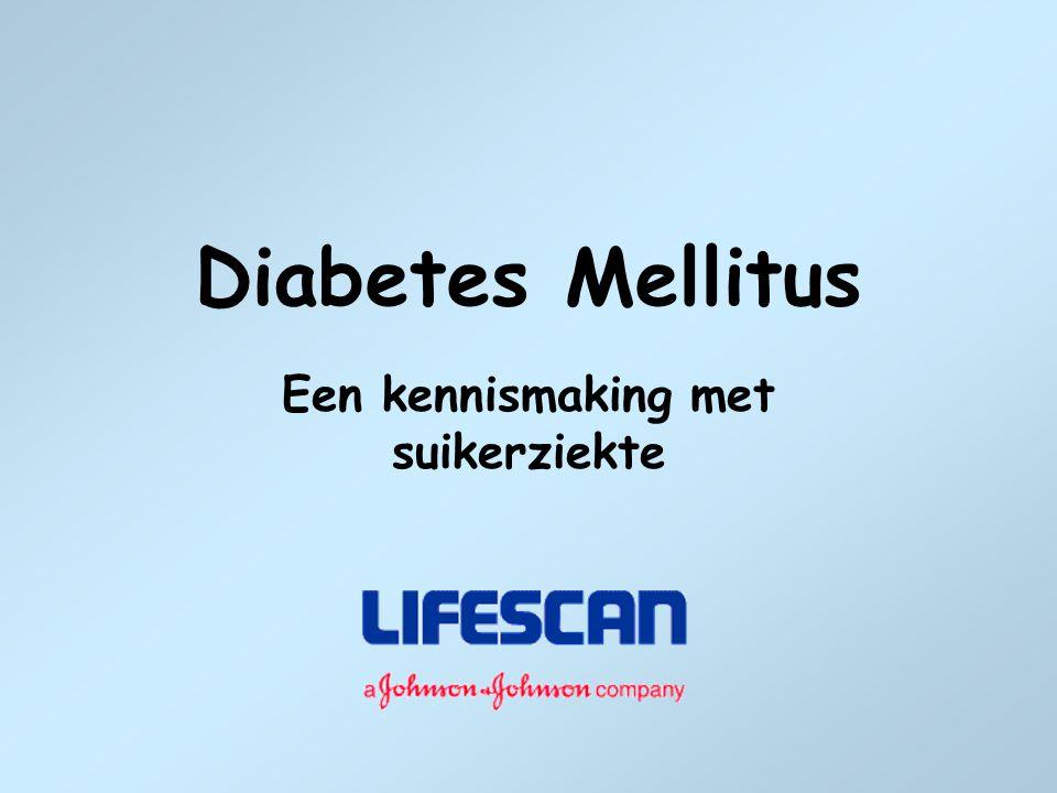Een kennismaking met suikerziekte