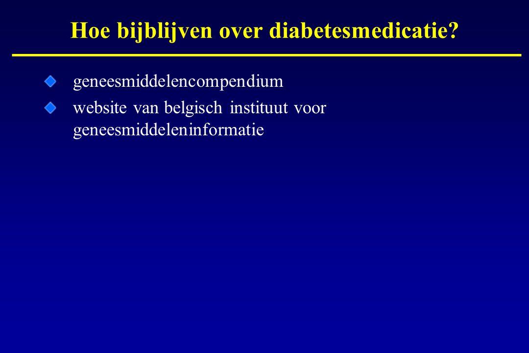 Hoe bijblijven over diabetesmedicatie