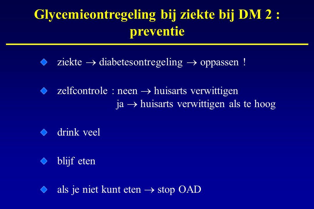 Glycemieontregeling bij ziekte bij DM 2 : preventie