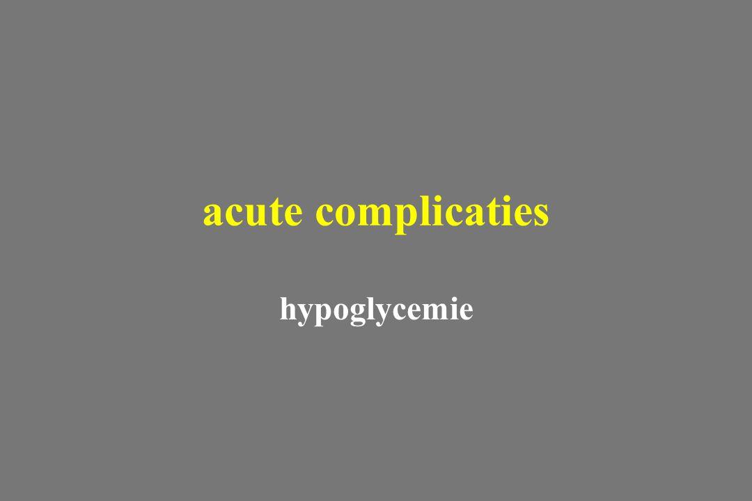 acute complicaties hypoglycemie