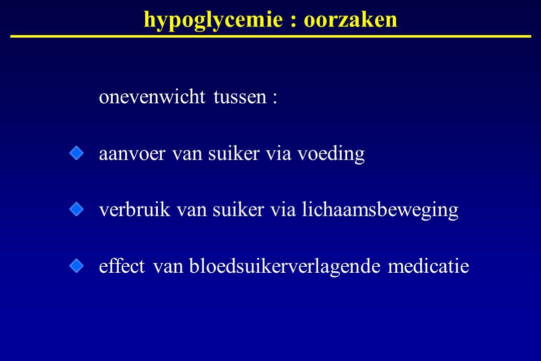 hypoglycemie : oorzaken