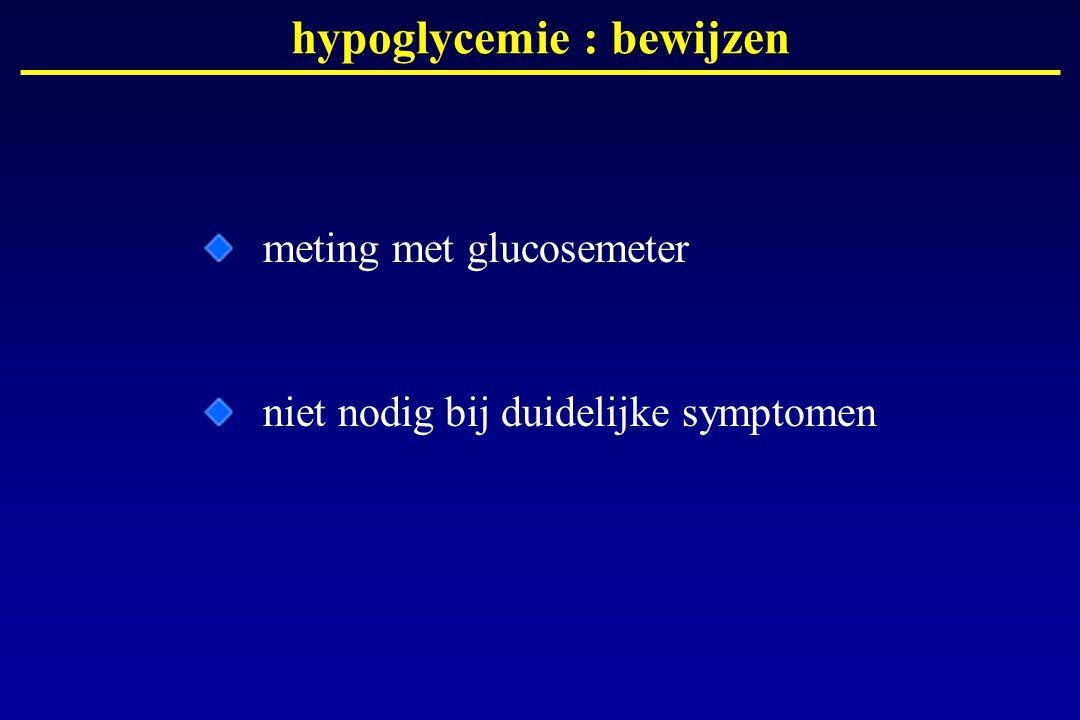 hypoglycemie : bewijzen