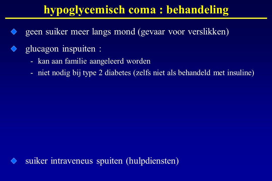 hypoglycemisch coma : behandeling