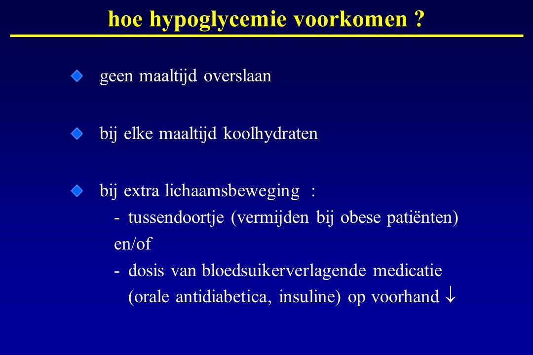 hoe hypoglycemie voorkomen