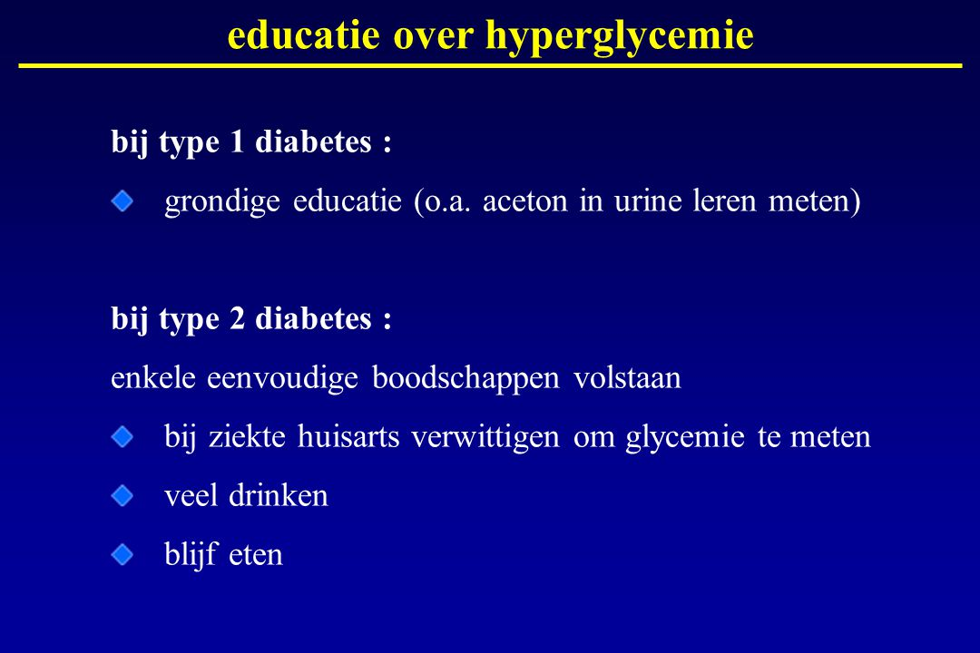 educatie over hyperglycemie