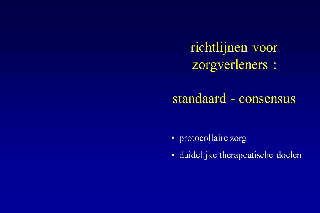 richtlijnen voor zorgverleners : standaard - consensus