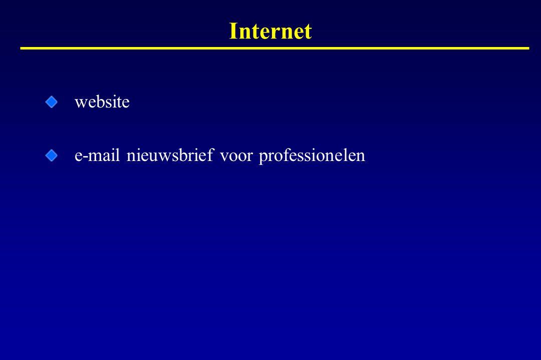 Internet website e-mail nieuwsbrief voor professionelen