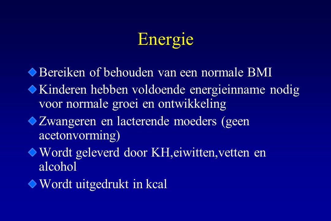 Energie Bereiken of behouden van een normale BMI