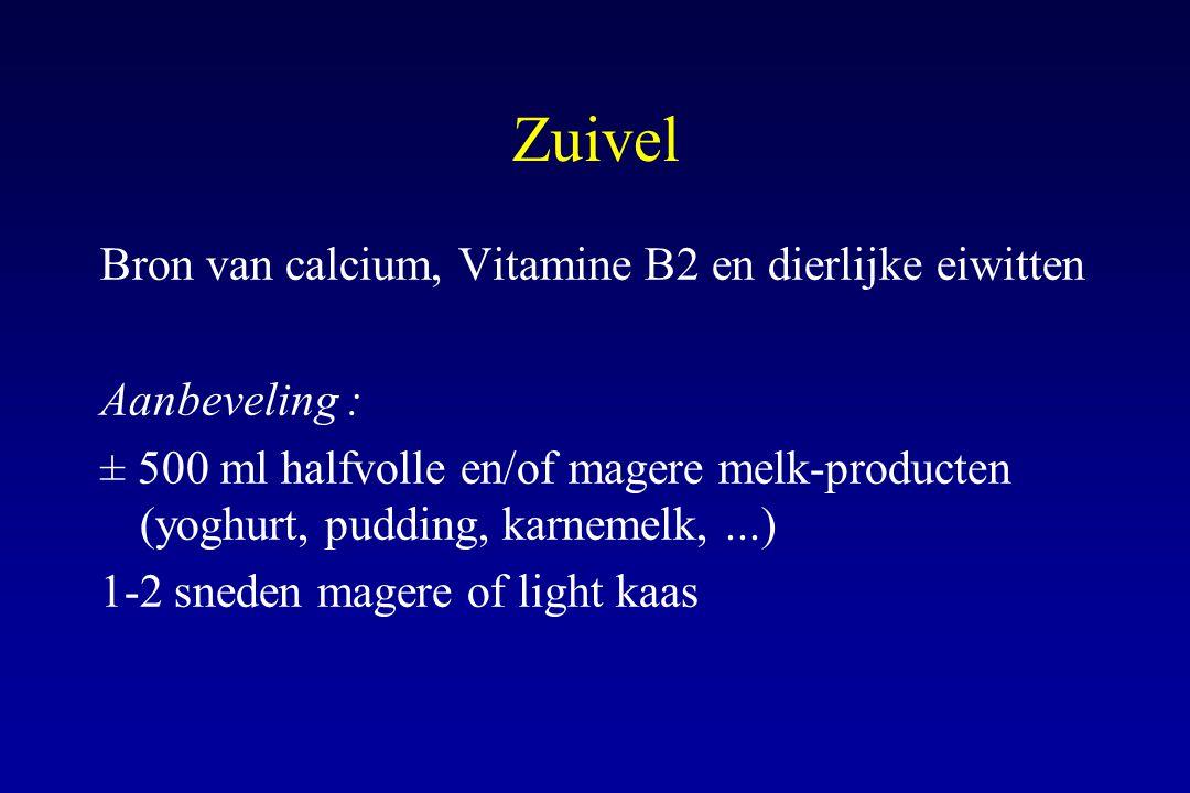Zuivel Bron van calcium, Vitamine B2 en dierlijke eiwitten