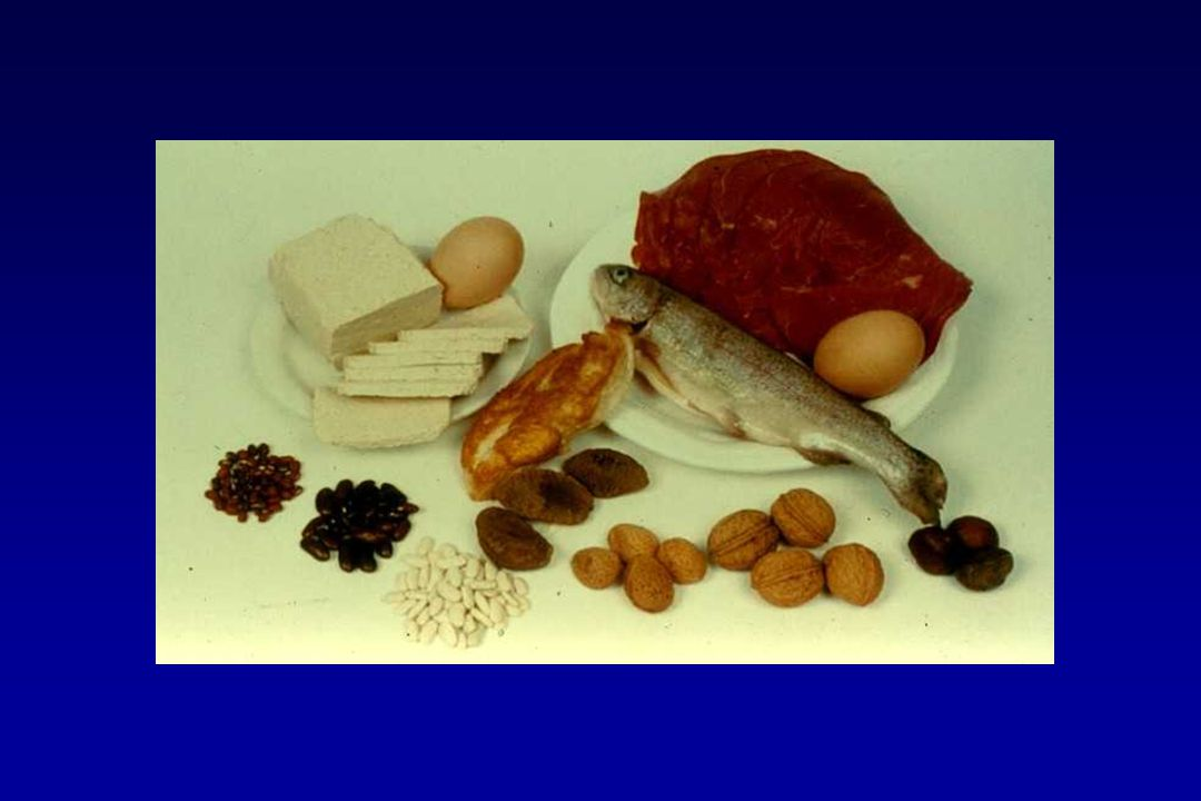 Vlees, vis en eieren zijn een bron van eiwitten.