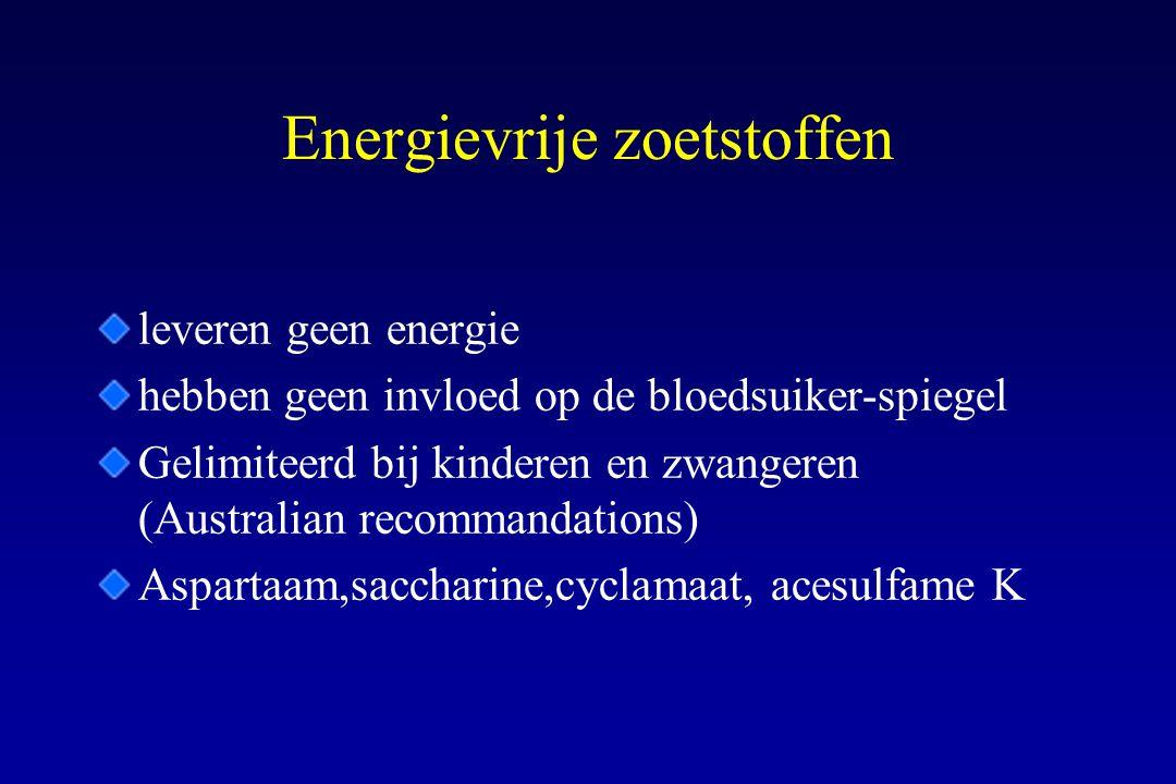 Energievrije zoetstoffen