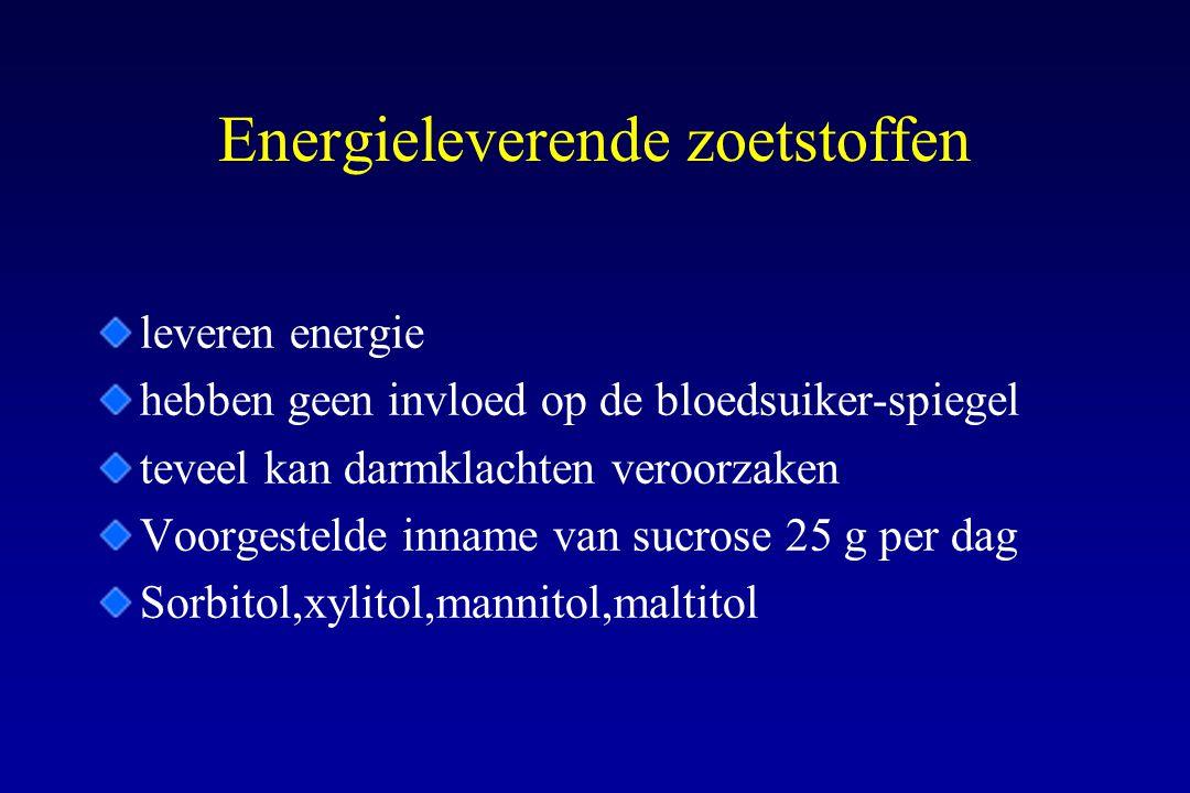Energieleverende zoetstoffen
