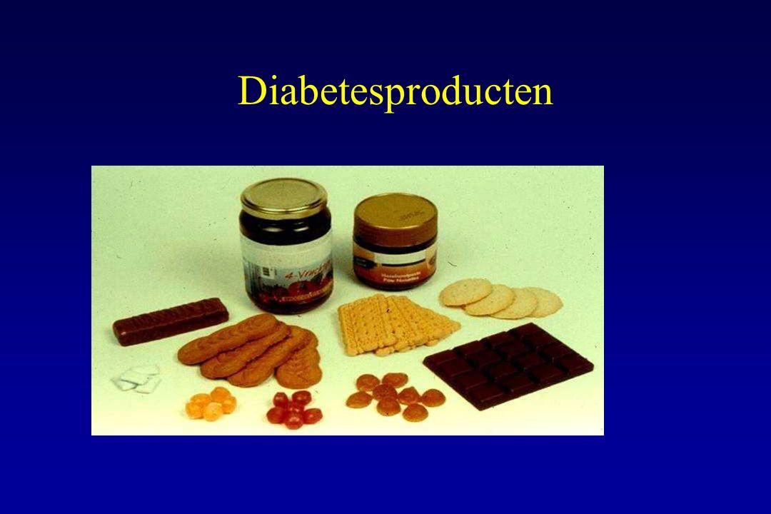 Diabetesproducten Het gebruik van diabetesproducten moet individueel bekeken worden en zo-nodig verrekend worden in het dagschema.