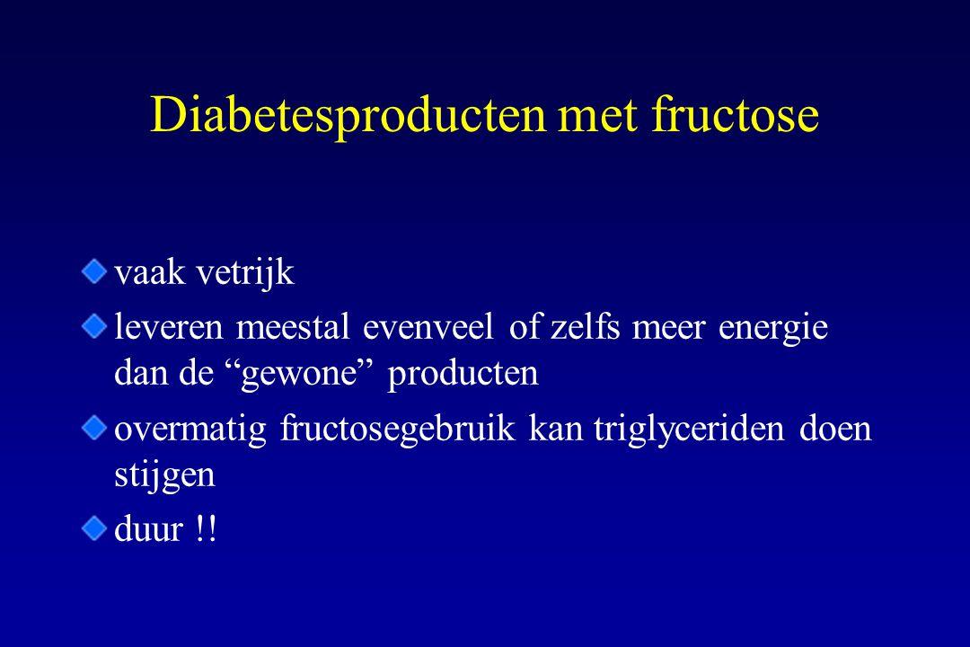 Diabetesproducten met fructose