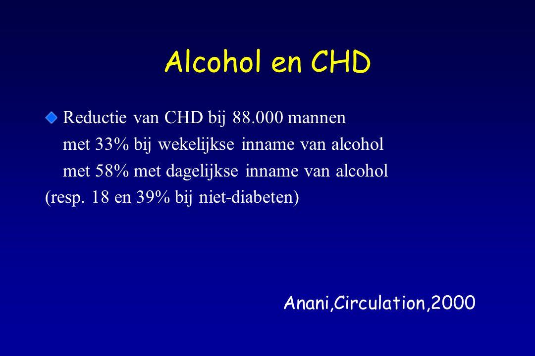 Alcohol en CHD Reductie van CHD bij 88.000 mannen