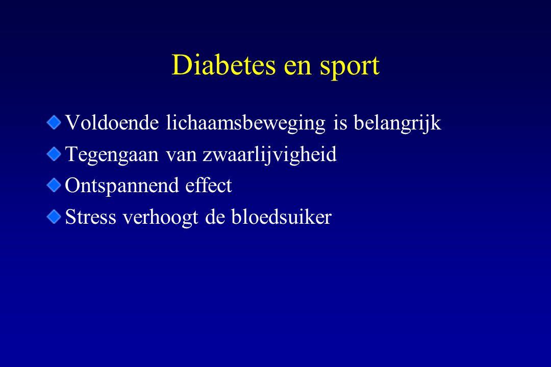 Diabetes en sport Voldoende lichaamsbeweging is belangrijk