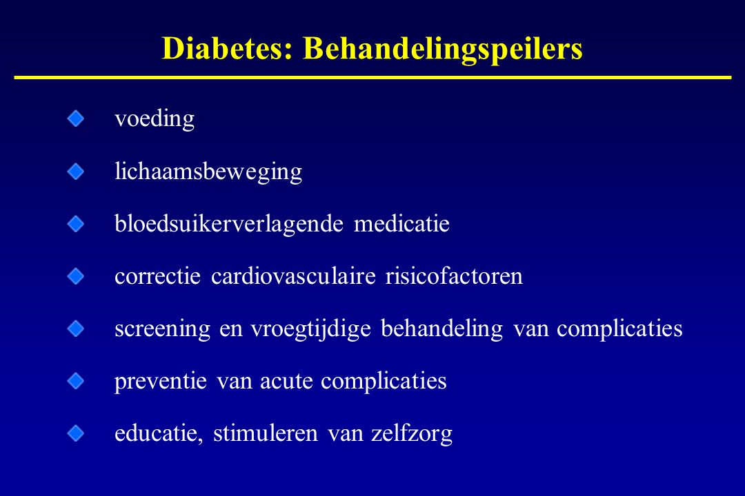 Diabetes: Behandelingspeilers