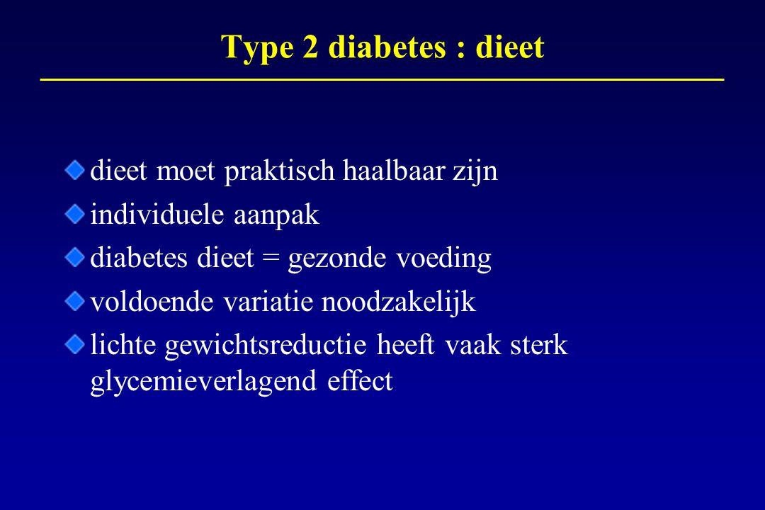 Type 2 diabetes : dieet dieet moet praktisch haalbaar zijn