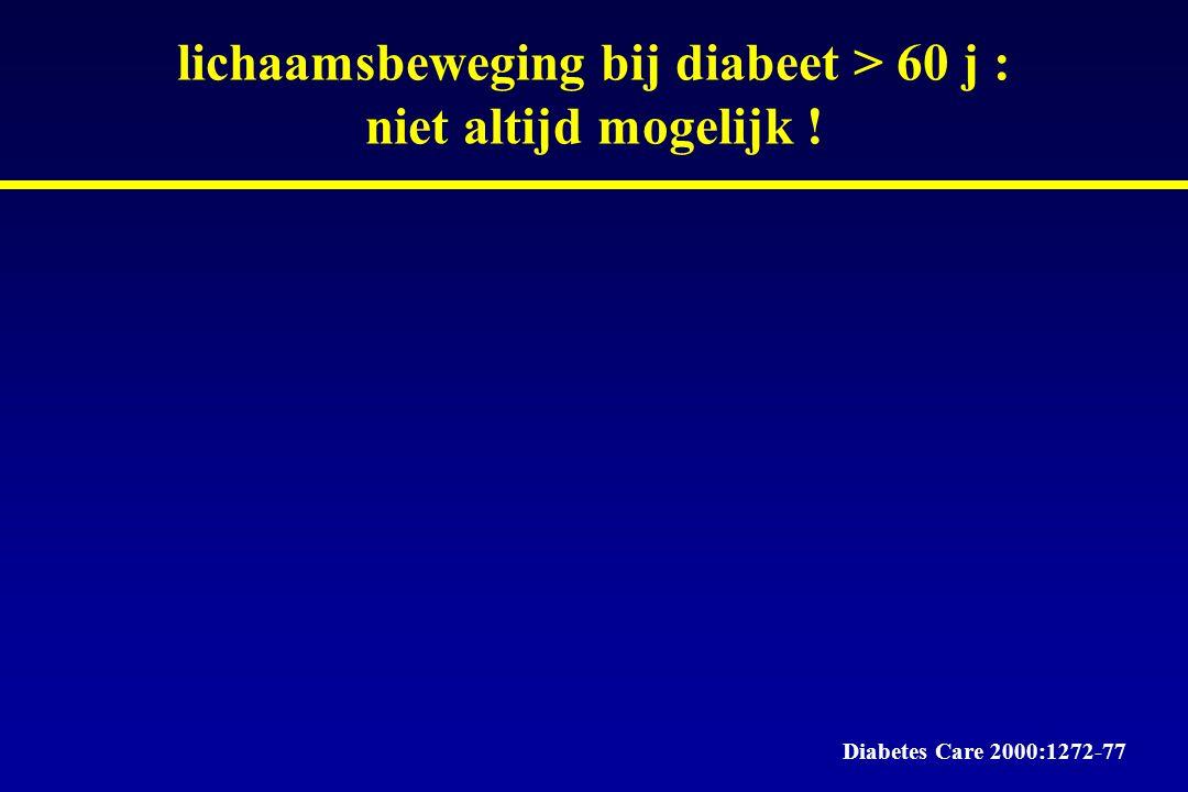 lichaamsbeweging bij diabeet > 60 j : niet altijd mogelijk !