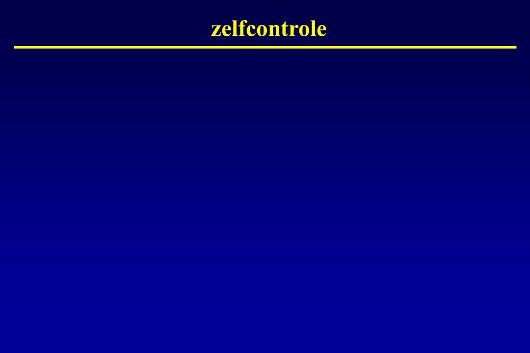zelfcontrole Dia 11 : Zeer belangrijk is de zelfcontrole.