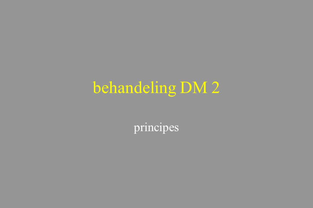 behandeling DM 2 principes