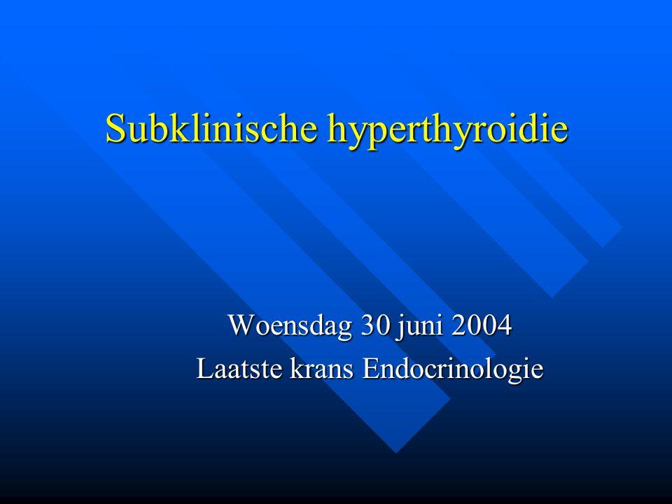 Subklinische hyperthyroidie