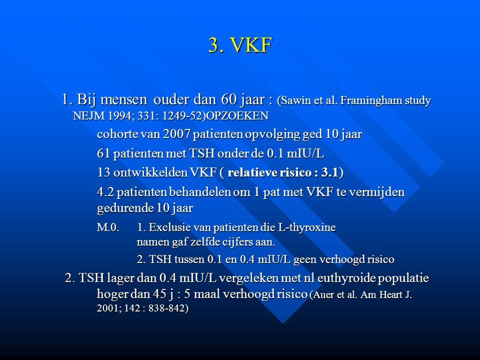 3. VKF 1. Bij mensen ouder dan 60 jaar : (Sawin et al. Framingham study NEJM 1994; 331: 1249-52)OPZOEKEN.