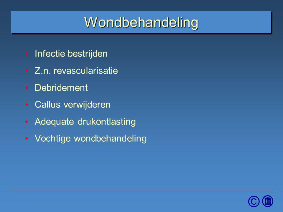 Wondbehandeling Infectie bestrijden Z.n. revascularisatie Debridement