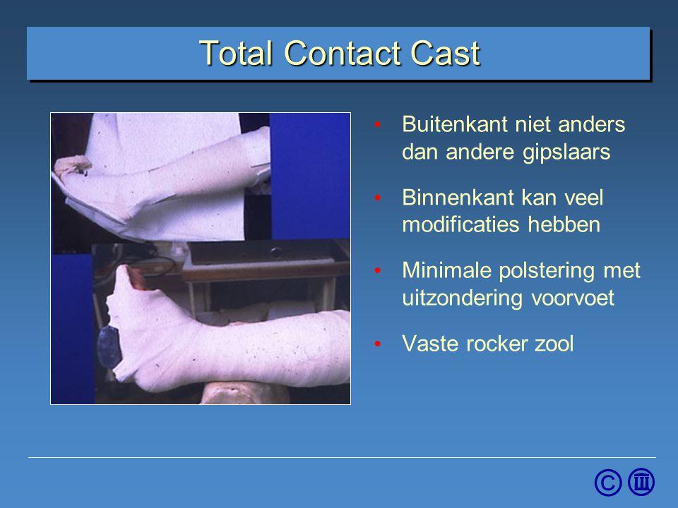 Total Contact Cast Buitenkant niet anders dan andere gipslaars