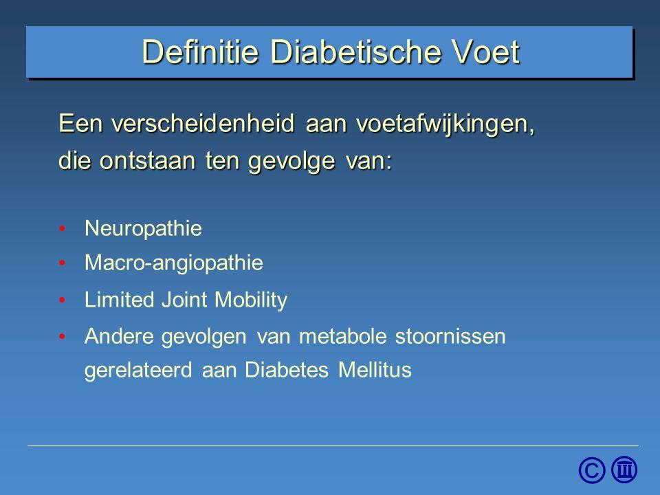 Definitie Diabetische Voet