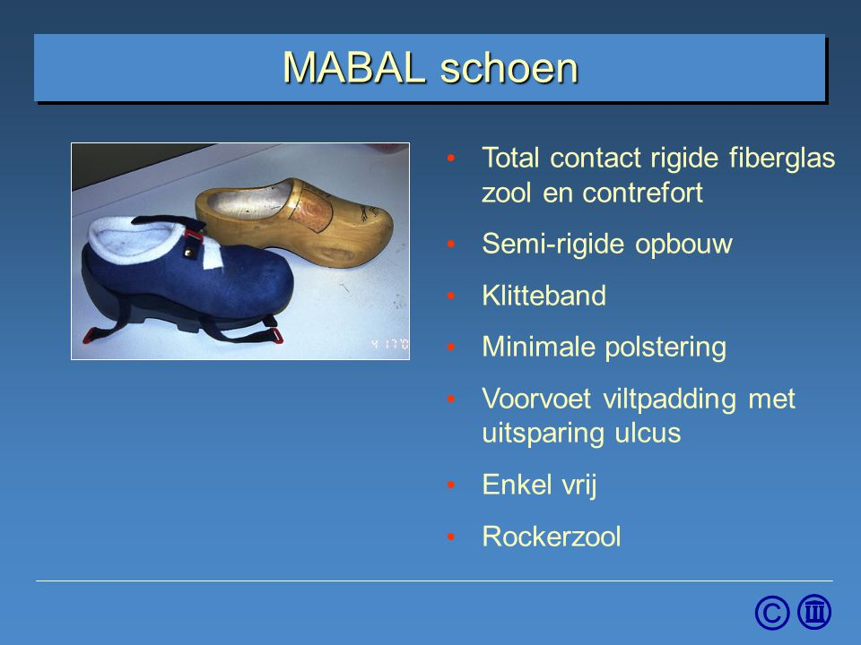 MABAL schoen Total contact rigide fiberglas zool en contrefort