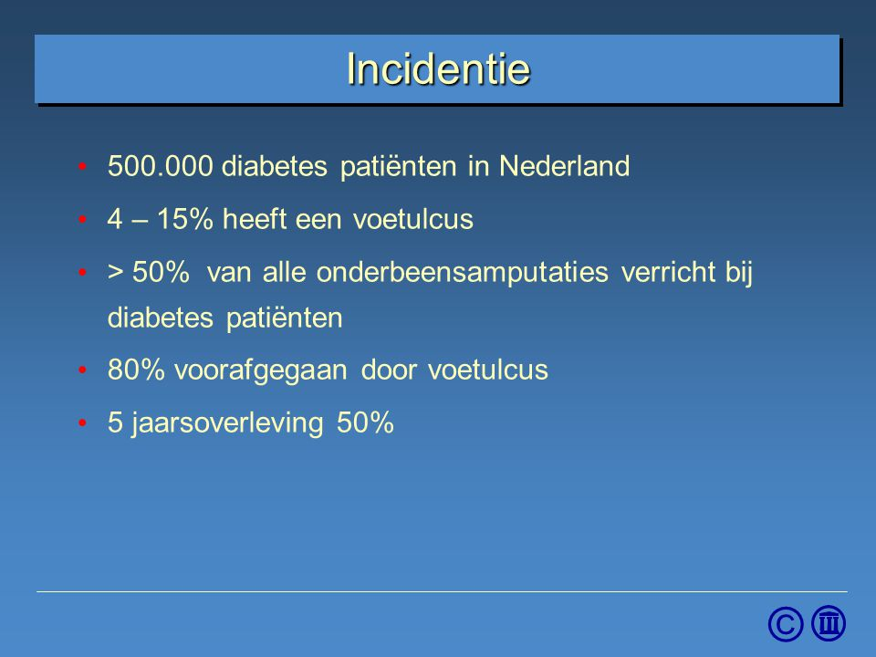 Incidentie 500.000 diabetes patiënten in Nederland
