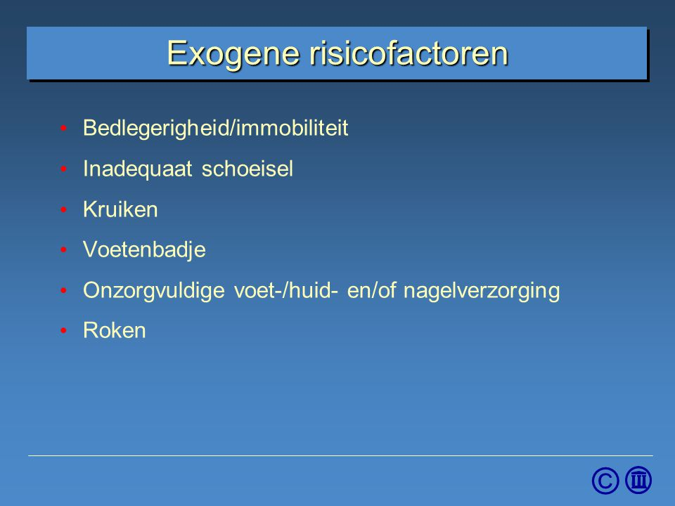 Exogene risicofactoren